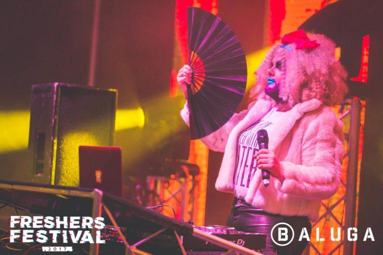 Crudi Dench DJing at York Uni Freshers Festival