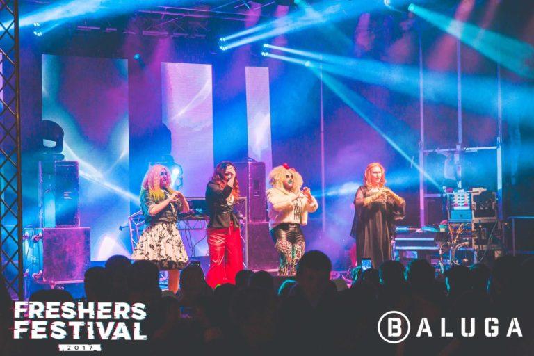 Group performance at York Uni Freshers Festival
